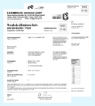 ISO-Kalibrierschein rel. Feuchte: WPF 4
