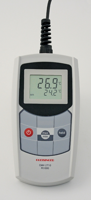 wasserdichtes haccp thermometer mit pt1000 f hler gmh 2710 gmh2710. Black Bedroom Furniture Sets. Home Design Ideas