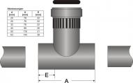 Durchflussarmatur DFA 32 aus PVC-U