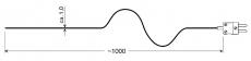 Drahtfühler (Typ K) für sekundenschnelle Messungen GTF 300